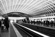 The Metro, Washington DC  It was a big deal for me being it's the only time I rode the subway since it was built.