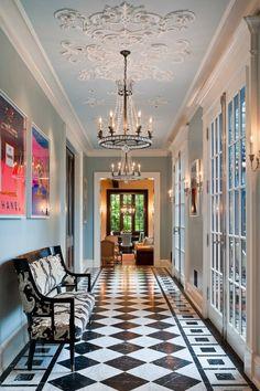 Ceiling design and decoration ideas – ceiling medallions ideas Budget Home Decorating, Diy Home Decor On A Budget, Affordable Home Decor, Decorating Ideas, Decorating Websites, Interior Decorating, Style At Home, Luxury Homes Interior, Home Interior Design