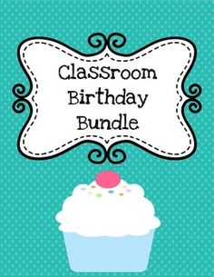 Classroom Birthday Bundle!Included in this packet:**Class Birthday Poster (record all student birthdays for all to see!)**Printable birthday cards (room for students' names)**Printable awards to treat your students to something special on their special day!I recommend printing poster and cards on cardstock so they are more durable.