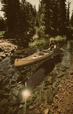 Canoeing on glass. #Canoeing #Outdoors #River
