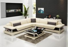 Canti Italian Leather Sectional