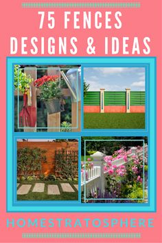 Terrific gallery of 75 fence designs and ideas for the backyard and front yard. Includes wood, wrought iron, white picket, chain link and more.