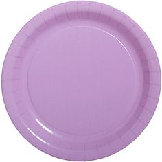 The Luscious Lavender 9 Inch Paper Plates are colorful addition to any party.