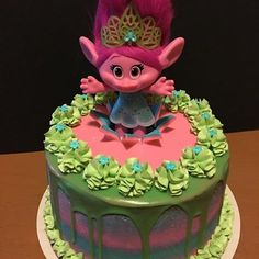 troll cake   Troll Cake #poppy #troll #trolls #trollscake #dripcakes #birthday # ...