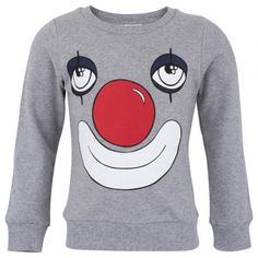 Grey Marl Clown Face Sweatshirt │Mini Rodini