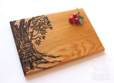 Personalized Cutting Board Wedding Gift Tree cutting by NomadGift