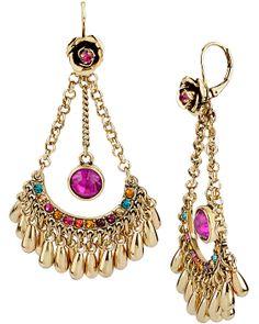 CARNIVAL CHANDLIER DROP EARRING MULTI accessories jewelry earrings fashion