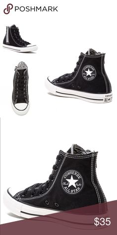 NWT converse chuck Taylor side zip high top 9 New in box. Women Size 9. Converse Shoes Sneakers