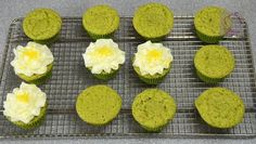 Discover our recipe rated by 22 members. Cupcake Ideas, Cupcake Recipes, Green Tea Cupcakes, Muffin Pans, Recipe Ratings, Sugar Art, Buttercream Frosting, Cup Cakes, Sweet Tooth