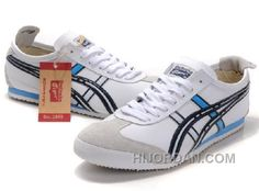 buy online f3735 64120 Asics Mexico 66 Men Shoes White Black Blue, Price   81.00 - Air Jordan Shoes,  Michael Jordan Shoes