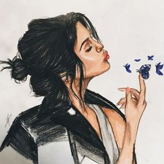 Image uploaded by Find images and videos about selena gomez and butterfly on We Heart It - the app to get lost in what you love. Selena Gomez Tumblr, Selena Gomez Linda, Selena Gomez Drawing, Selena Gomez Cute, Selena Gomez With Fans, Selena Gomez Fotos, Selena Gomez Pictures, Girl Cartoon, Cartoon Art