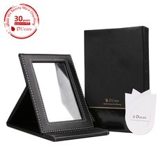 #deals - $9.09 ( with #coupon 8RGHX77P)for Black Folding Mirror, Professional Design Multi-used Makeup Mirror with Leather Case !! http://amzn.to/1og9RSi