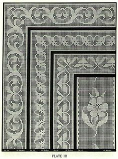 Book of Filet Crochet and cross Stitch Book N 6 Filet Crochet Charts, Crochet Borders, Crochet Cross, Crochet Squares, Crochet Home, Thread Crochet, Crochet Doilies, Celtic Cross Stitch, Cross Stitch Books