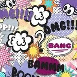 "www.elephantinmyhandbag.com #OMG #Text #Speak #Words #Girl "" - Text #Fabric by #Michael #Miller"