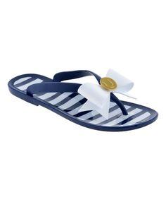 5bf01269b13f Lillybee Dark Blue   White Stripe Flip-Flop - Women