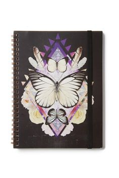 A must have for all stationery buffs! <br> Our spinout notebooks are available in A4 and A5 with an elastic fastener to keep your notes, doodles and secret schemes contained. <br> In a range of seasonal prints and designs, these are our signature stationery essentials with a print to suit everyone. <br> Details: <br> Dimensions: 14.8 x 21 cm <br> Material: Paper inserts with wire spiral spine <br> Features: Flexi hard cover, Elastic Closure. <br> -120 Lined Pages <br/>