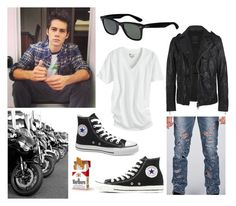 """""""Inspired by Stiles (Teen Wolf ) #4"""" by calyxx ❤ liked on Polyvore featuring AllSaints, Converse, Victoria's Secret, Cheap Monday and Ray-Ban"""