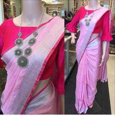 St blouse design for all occasion - mehandi des Sari Design, Designer Blouse Patterns, Designer Dresses, Designer Wear, Saree Blouse Neck Designs, Elegant Saree, Saree Styles, Blouse Styles, Silk Sarees