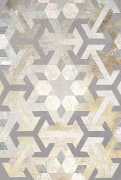 I love how the sparkle of these metallic floor tiles tells you this room is just 'gorgeous darling'!