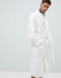 9fd4b101ed Calvin Klein Robe with Logo Sleeves in Terry