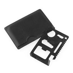 11 in 1 Tool Credit Card Survival Poket Knife Black For Camping Hunting Survival Tools, Camping Survival, Survival Knife, Camping Hacks, First Time Camping, Outdoor Tools, Outdoor Camping, Grab Bags, Card Sizes