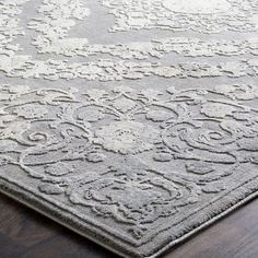 Charlton Home Thissell Vintage Persian Medallion Gray Area Rug White Charcoal, Traditional Area Rugs, Floral Border, Indoor Rugs, Birch Lane, Online Home Decor Stores, Light In The Dark, Rug Size, Persian