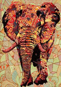 Elephant Pattern by Luis Alves