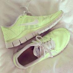 neon nike runners .