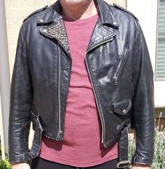 Studded Schott Perfecto Leather Motorcycle Jacket by DrearyDandy