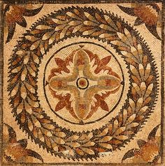 Roman mosaic, from Timgad (ancient Thamugadi), Algeria, Roman Civilization, 1st-2nd Century