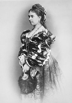 The first child of Queen Victoria of the U.K., Crown Princess Victoria of Prussia; February 8, 1875.