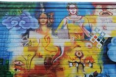 Auspicious Tibetan Buddhist symbols @ Lama G& Cafe, Fremont, Seattle, Washington, USA Buddha Kunst, Buddha Art, Buddhist Symbols, Infinity Symbol, Fremont Seattle, Conch, Deities, Buddhism, Illusions