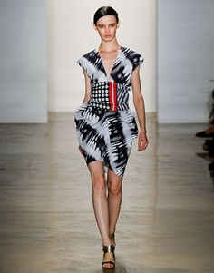 Zero Maria Cornejo clashed dots, stripes and tie-dye techniques for a decidedly chic African mash-up  - HarpersBAZAAR.com