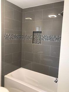 18 photos of the bathroom tub tile designs installation with rh pinterest com