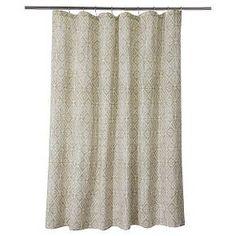 Tribal Geo Shower Curtain - Tan - Threshold™ : Target