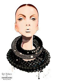 Nuno Da Costa - Contemporary Fashion,Beauty,Line Illustrator Jewelry Illustration, Illustration Mode, Fashion Art, Fashion Beauty, Fashion Design, Fashion Portraits, Work Fashion, Editorial Fashion, How To Make Drawing