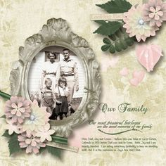 Our Family Kit:  Fading Memories by Designs by Romajo http://www.plaindigitalwrapper.com/shoppe/product.php?productid=12396&cat=&page=1 Family wordart: April17 Challenge by MarieH Designs Fonts: GE Basalt Script & Fineliner Script