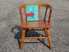 Reserved For Katherine: Vintage Childs Bentwood Chair, Mid Century Childs Chair…