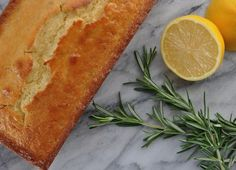 MisterMartha.com | Rosemary Scented Lemon Pound Cake with Tart Lemon Glaze and It's Nice to Meet You! | http://www.mistermartha.com