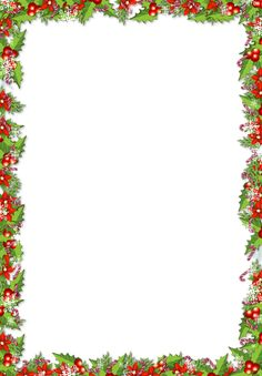 Christmas PNG Frame with Mistletoes***Free frames to use in photo shop***