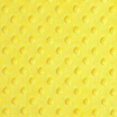 Canary Minky Dot - 1/2 yard - funkymonkeyfabrics