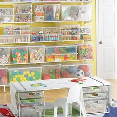 If there's one thing parents and kids can agree on, it's elfa!  This freestanding solution features plenty of shelves for maximizing storage space for toys, craft supplies, puzzles and games.  Our elfa Mesh Kids' Coloring Table (sold separately) offers generous space for imagination and creativity to take place - plenty of storage in the drawers below - it can be reconfigured into a desk by adding additional components as your child grows.  In fact, all elfa components are adjustable, so the…