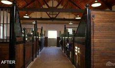 horse barn after makeover
