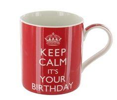 """Tasse mit Spruch: """"KEEP CALM IT'S YOUR BIRTHDAY"""", mit Verpackung Lesser & Pavey http://www.amazon.de/dp/B006W19VOC/ref=cm_sw_r_pi_dp_sPnpvb0QHV42H"""