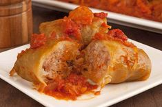 Our family recipe for Hungarian Stuffed Cabbage Rolls uses a filling of ground meat and rice and a thick tomato sauce flavored with sauerkraut, cabbage and bacon. Croatian Recipes, Hungarian Recipes, Irish Recipes, Ukrainian Recipes, Cabbage And Bacon, Cabbage Recipes, Stuff Cabbage, Cabbage Steaks, Veal Recipes