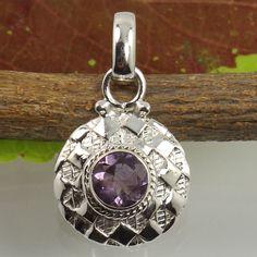 Handmade Art Pendant Natural AMETHYST Gemstone 925 Sterling Silver Manufacturer #Unbranded #Pendant