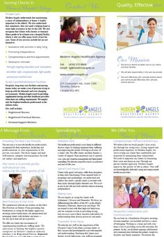 Modern Angels Healthcare Agency  Company Brochure!! Company Brochure, Competitor Analysis, Health Care, Angels, Medical, Activities, Education, Modern, Inspiration
