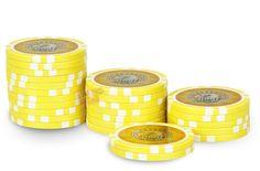 Rouleau de 25 jetons Laser Eagle 1000 - Pokeo.fr - Rouleau de 25 jetons de poker Laser Eagle 1000 jaune en PP stické 11,5g pour joueurs débutants.