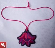 Necklace with Hungarian folk motif. - JEWEL-PENDANT-279