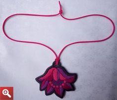 Necklace with Hungarian folk motif. - JEWEL-PENDANT-279
